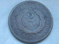1864 TWO 2 CENT PIECE- LARGE MOTTO, CIVIL WAR TYPE COIN