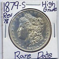 1879-S REV 78 MORGAN DOLLAR  KEY DATE US MINT PQ STUNNER SILVER HIGH GRADE