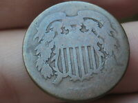 1864 TWO 2 CENT PIECE-  CIVIL WAR TYPE COIN
