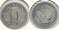 1917 TYPE 1 SILVER STANDING LIBERTY 25 QUARTER IN FINE CONDITION