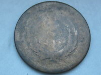 1865 TWO 2 CENT PIECE- CIVIL WAR TYPE COIN, HEAVILY WORN