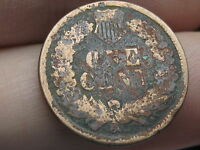 1865 INDIAN HEAD CENT PENNY, METAL DETECTOR FIND?