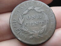1820 MATRON HEAD LARGE CENT PENNY  SMALL DATE  VG/FINE DETAILS