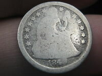 1849 O SEATED LIBERTY DIME   SEMI KEY DATE