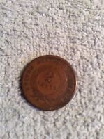 1865 TWO CENT COIN, LOT 15RR