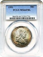 1951 50C PCGS MS66 FBL   FRANKLIN HALF DOLLAR