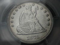 1873 NO ARROWS CLOSED 3 SEATED LIBERTY QUARTER  PROOF PCGS GRADED 600 STRUCK