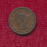 1841 BRAIDED HAIR LARGE CENT KEEN POINTS ON EACH STAR
