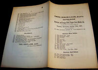 1867 VTG OLD 19TH CENTURY 1800'S U.S. COIN AUCTION CATALOG THOS BIRCH & SON