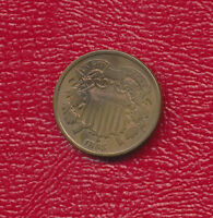 1865 TWO CENT 2 CENT COPPER PIECE VERY NICE CIRCULATED TYPE COIN FREE SHIP