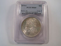1879 S MORGAN SILVER DOLLAR PCGS MINT STATE 65 BEAUTIFUL COLLECTOR GRADED COIN 1734
