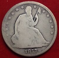 1877 50C LIBERTY SEATED HALF DOLLAR