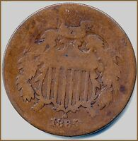 1865 TWO CENT COPPER  ALWAYS COLLECTABLE SUPER CHEAP BUY PRICE $8.95