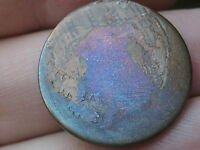 1864-1872 TWO 2 CENT PIECE- BLUE/PURPLE TONING