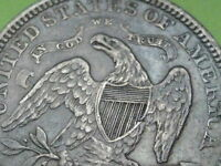 1873 NO ARROWS OPEN 3 SEATED LIBERTY QUARTER  XF DETAILS