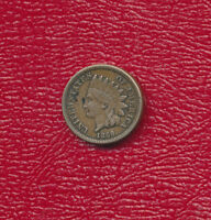 1860 INDIAN HEAD CENT   FULL LIBERTY   ROUND BUST  CIRCULATED