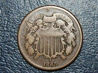 1865 TWO CENT  COIN  J-707-B
