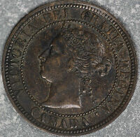 NICE UNCIRCULATED 1888 CANADA VICTORIA LARGE CENT