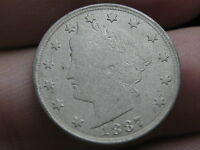 1887 LIBERTY HEAD V NICKEL 5 CENT PIECE  CLEAR DATE