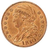1810 $5 PCGS AU DETAILS LARGE DATE LARGE 5   EARLY CAPPED BUST GOLD     GRCON
