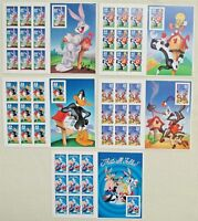 FIVE BOOKLETS X 10   50 LOONEY TUNES BUGS BUNNY COMPLETE SET US POSTAGE STAMPS