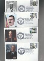 US FDC FIRST DAY COVER   4440 4443 DISTINGUISHED SAILORS 2010  SET OF 4