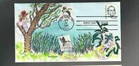 US FIRST DAY COVERS FDC   1863 JOHN JAMES AUDUBON 1985 HAND PAINTED AGAPA 33/50