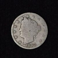 1893 LIBERTY HEAD V NICKEL 5C CENT UNITED STATES COIN