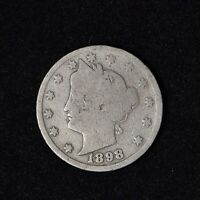 1898 LIBERTY HEAD V NICKEL 5C CENT UNITED STATES COIN