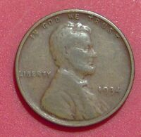 1934 LINCOLN WHEAT CENT PENNY    D1633