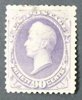 CKSTAMPS: US STAMPS COLLECTION SCOTT218 90C PERRY MINT HR OG TINY THIN CV$900