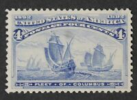 CKSTAMPS: US STAMPS COLLECTION SCOTT233 4C COLUMBIAN MINT H OG THIN