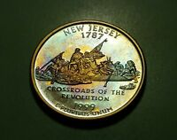 TONED 1999 S CLAD PROOF NEW JERSEY STATE QUARTER  W24190