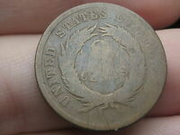 1864-1869 TWO 2 CENT PIECE- CIVIL WAR TYPE COIN