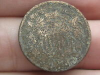 1864-1872 TWO 2 CENT PIECE- METAL DETECTOR FIND? POSSIBLE CIVIL WAR RELIC