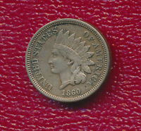 1860 INDIAN HEAD CENT  ROUNDED BUST VERY NICE CIRCULATED CENT