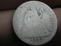 1883 P SEATED LIBERTY SILVER DIME