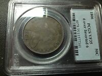 1806/9  6 OVER INVERTED 6  PCGS VF-35  EARLY DRAPED BUST HALF DOLLAR