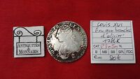 FRANCE LOUIS XVI ECU  1784 K  AUX BRANCHES D'OLIVIER  OLD FRENCH COIN   REF23050