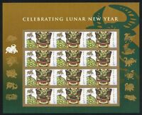 4375 LUNAR NEW YEAR 42C YEAR OF THE OX MINT SUPERB-NH SHEET