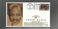 US FIRST DAY COVER FDC  3096 COUNT BASIE 1996  BIG BAND LEADER  MASONIC EDSEL