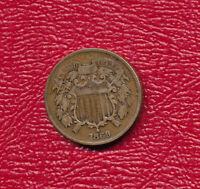 1869 TWO CENT PIECE SHOWS A FULL WE SHIPS FREE