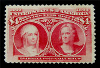 NYSTAMPS US STAMP  244 MINT WITH GUM H $2150