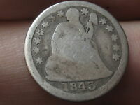 1843 SEATED LIBERTY SILVER DIME