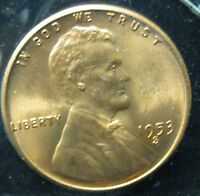 1953 S LINCOLN WHEAT CENT   GEM      P 212 2