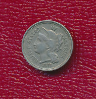 1868 THREE CENT NICKEL TYPE COIN IN EXTRAORDINARY CONDITION