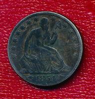 1854 O SEATED LIBERTY SILVER HALF DOLLAR WITH ARROWS