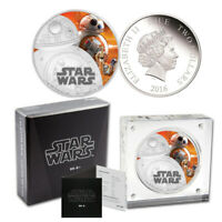 2016 STAR WARS BB 8 SILVER PROOF $2 COIN   THE FORCE AWAKENS