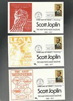 US FDC FIRST DAY COVER   2044 SCOTT JOPLIN MUSIC 1983  LOT OF 4