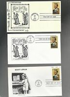 US FDC FIRST DAY COVER   2044 SCOTT JOPLIN MUSIC 1983  LOT OF 6